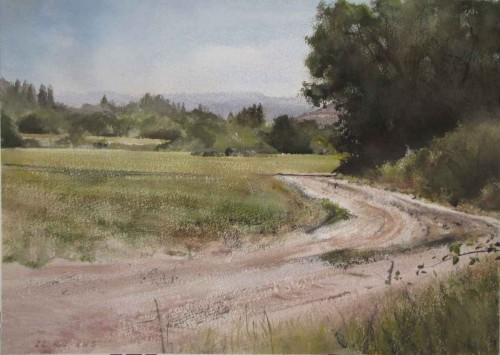 Road at Miller's by Lane Hall
