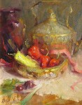 Chilies and Pink Ribbon #  by Mary Dolph Wood