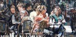 Cafe on the Corner #  by Judy Gelfert