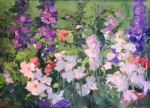 Delphinium and Phlox #  by Kaye Franklin