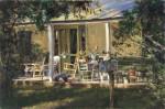 Porch, Between Grapetown and Luckenbach #  by John Austn Hanna