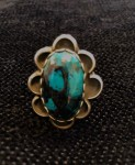 20-134 Chrysocolla & SS Ring size 9 #  by Charles Wendt