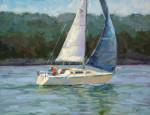 Blue Sail #  by Bob Rohm