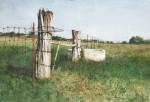 Gate Post #  by Mark Stewart