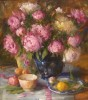 Cobalt Vase and Peonies #  by Mary Dolph Wood