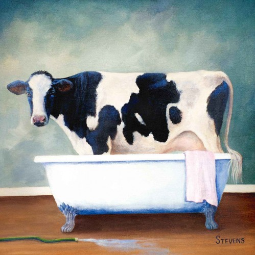 Cow Wash by Sandra Stevens