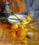 Still Life with Daffodils #  by Mary Dolph Wood
