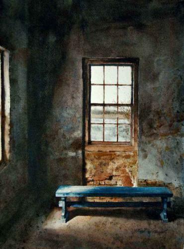Blue Bench by Mark Stewart