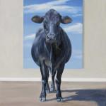 Cow With Blue Sky #  by Sandra Stevens