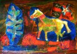Horse on His Way to His Birthday Party #  by Fran Patterson