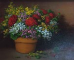 Potted Flowers #  by Milbie Benge