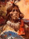 Fool Bull, Medicine Man #  by John Austn Hanna