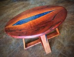 Mesquite Figural Table with Resin #  by Dan Burdett