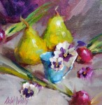 Pears and Pansies #  by Mary Dolph Wood