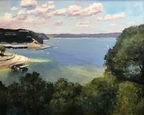 Overlook at Lake Travis by Randall Cogburn