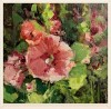 Spring Hollyhock #  by Kaye Franklin