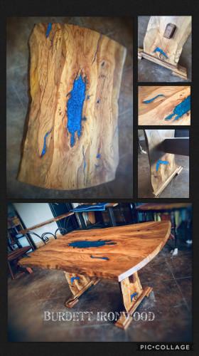 Antique Post Oak Table by Dan Burdett